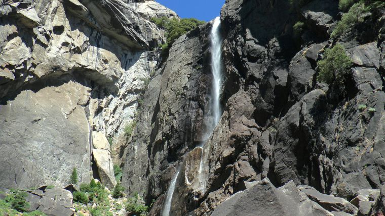 Bild 256: Beide Teile des Yosemite Falls (Lower and Upper Fall)